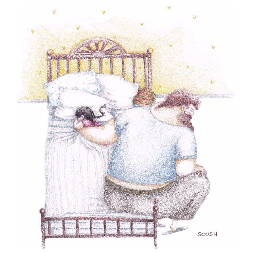 Luar Biasa! 14 Ilustrasi Ini Membuktikan Bahwa Kasih Sayang Ayah Tiada Tara
