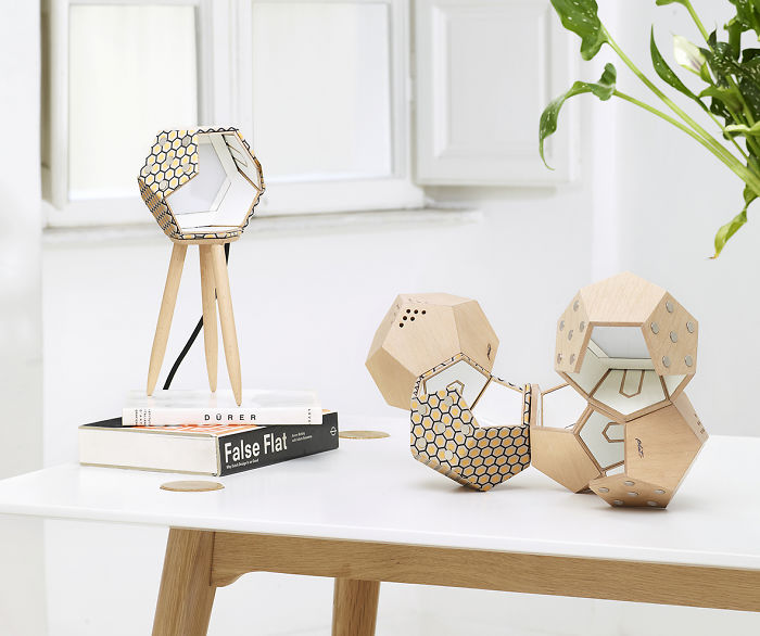 We Designed Modular Magnetic Lamps That Can Be Joined In An Endless Number Of Combinations