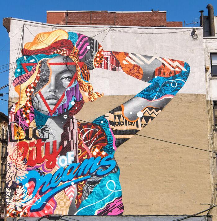 colorful street art by tristan eaton nadhirazahrany 39 s blog. Black Bedroom Furniture Sets. Home Design Ideas