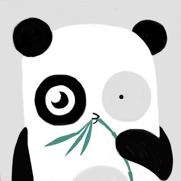 Tai Pandukas. Jis Laimingas, Nes Valgo Bambuka.