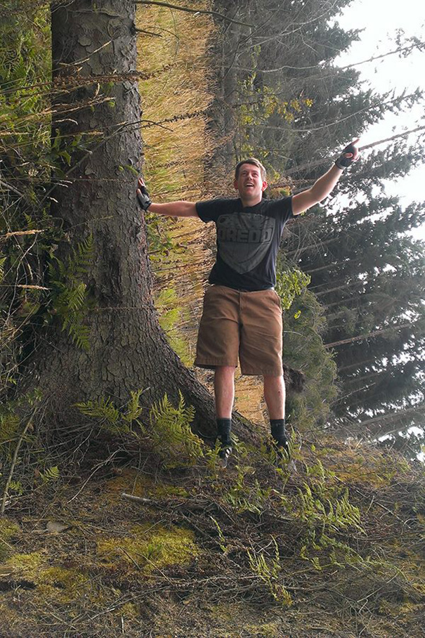 Adam Leaning On A Tree