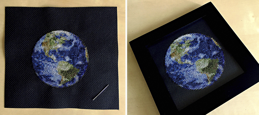 Cross-stitched Solar System By Navid Baraty