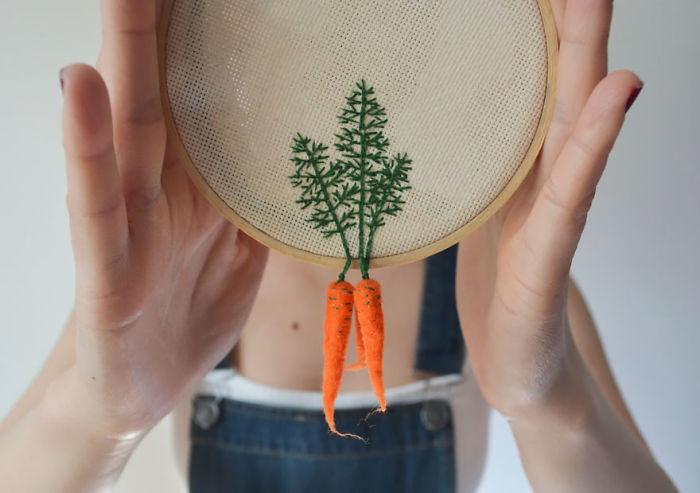 Embroidered Vegetables By Veselka Bulkan