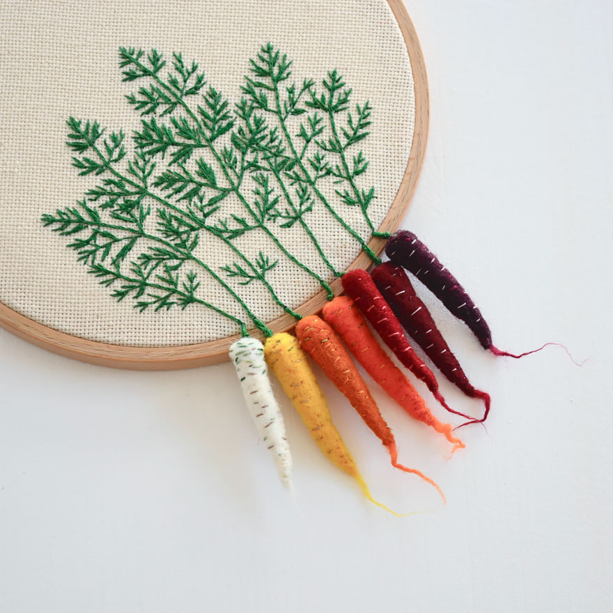 Embroidered Vegetables By Veselka Bulkan