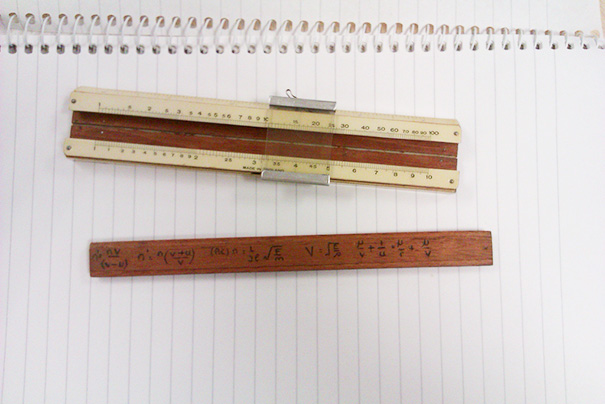 I Found These Handwritten Formulae On The Back Of The Slider Of My Mini Slide-rule