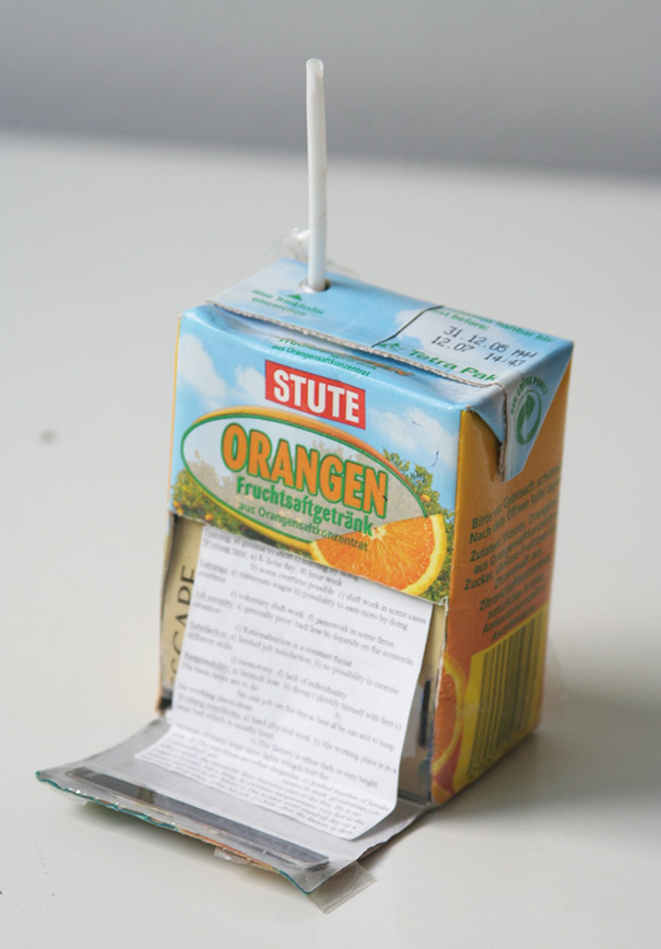 Cheat Sheet In A Juice Box