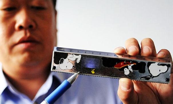 Hi-tech Cheating Gear: Lcd Screen In A Ruler