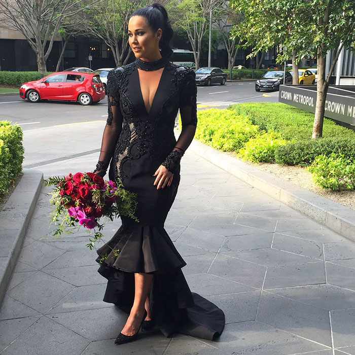 Bride Breaks Tradition And Gets Married In Black Wedding Dress ...