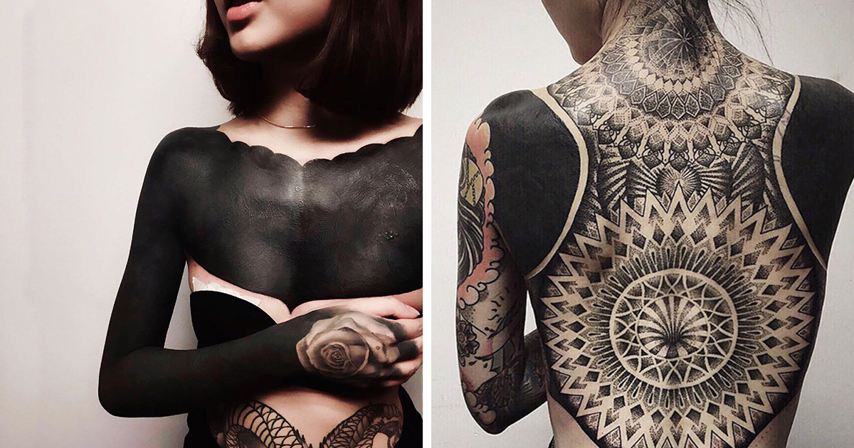 Blackout tattoos are the latest trend in singapore bored for Dark tattoo cover up