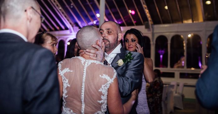 Bride Shaves Her Head At Her Wedding To Support Her Terminally Ill Groom