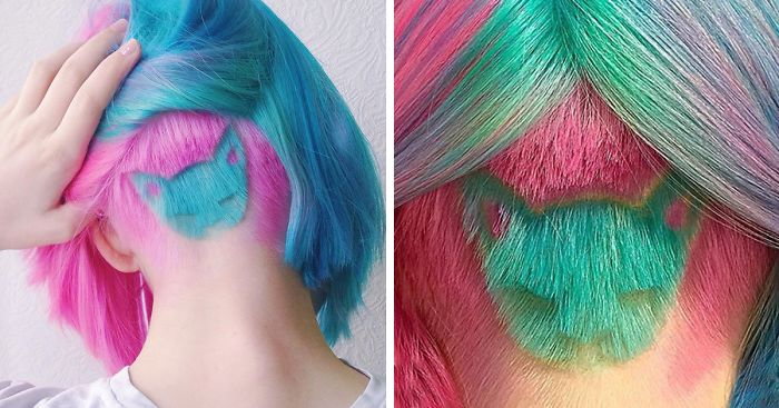 Rainbow Cat Undercut Is The Hottest New Hairstyle On