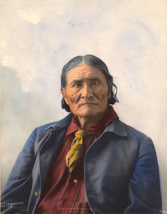 Geronimo (goyaałé). Apache. 1898. Photo By F.a. Rinehart