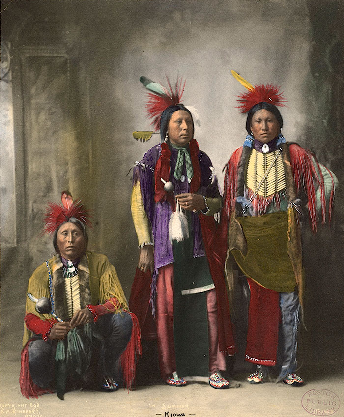 """In Summer"". Kiowa. 1898. Photo By F.a. Rinehart"