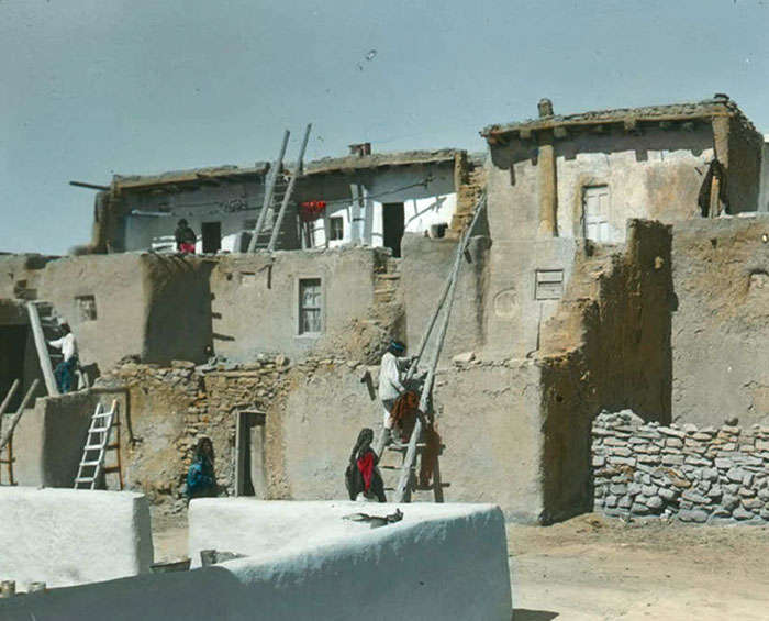Acoma Pueblo. New Mexico. Early 1900s. Photo By Chicago Transparency Company
