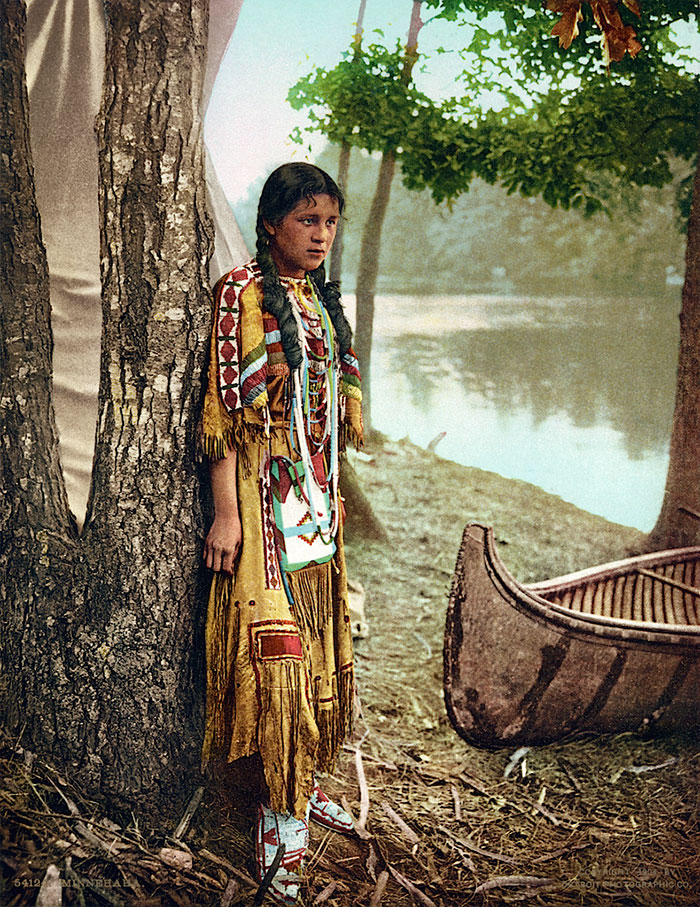 minnehaha 1904 - Native American Pictures Color