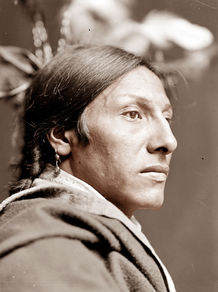 Amos Two Bulls. Lakota. Photo By Gertrude Käsebier