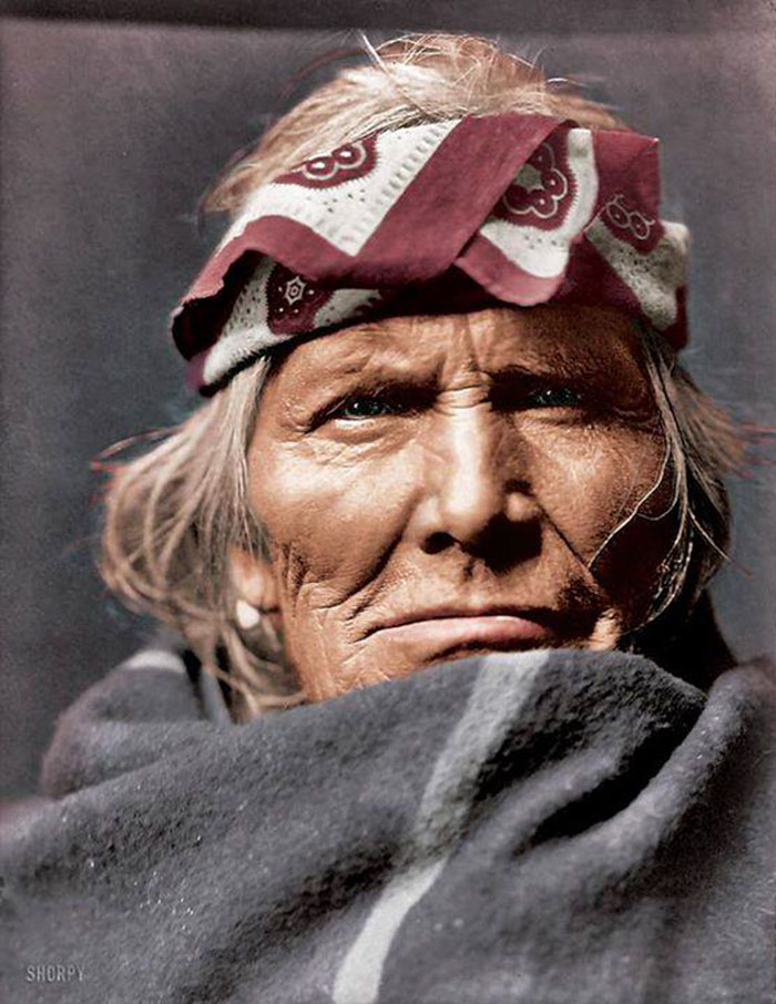 Si Wa Wata Wa. A Zuni Elder. New Mexico. 1903. Photo By Edward S. Curtis