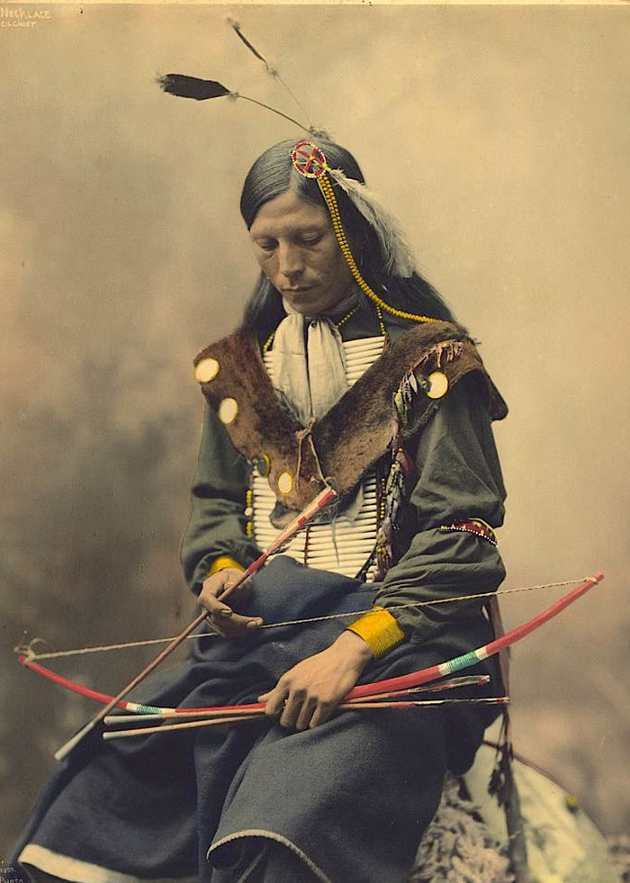 Bone Necklace. Oglala Lakota Chief. 1899. Photo By Heyn Photo