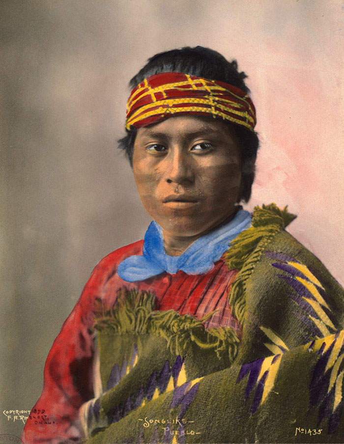 """Songlike"", A Pueblo Man, 1899. Photo By F.a. Rinehart"
