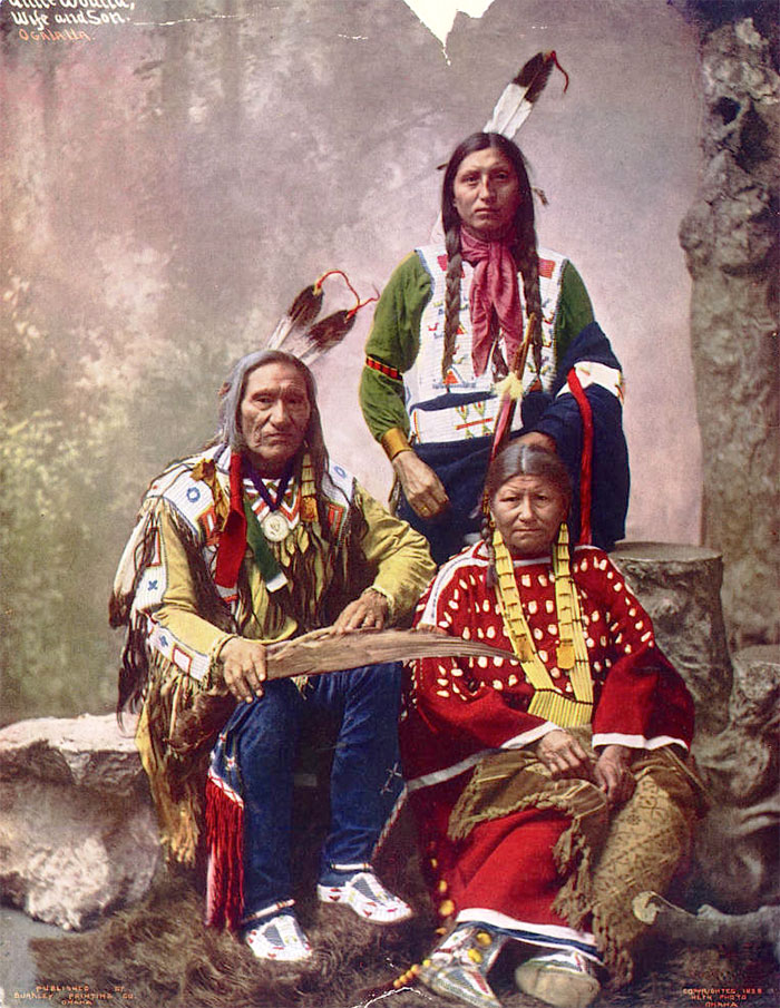 Chief Little Wound And Family. Oglala Lakota. 1899. Photo By Heyn Photo
