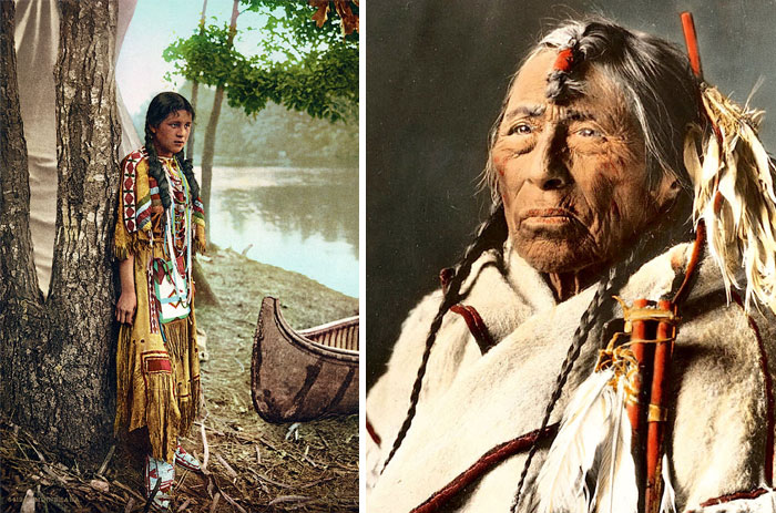 15+ Rare Colour Photos Of Native Americans From The 19th And 20th Century