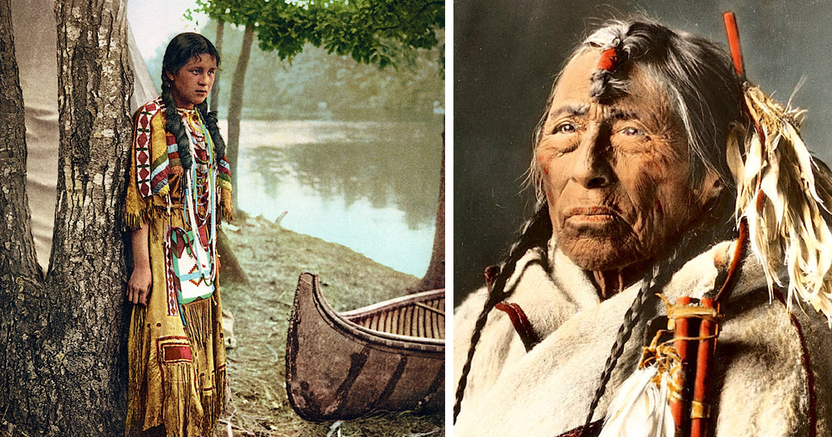 Rare Colour Photos Of Native Americans From The Th And Th Century Bored Panda