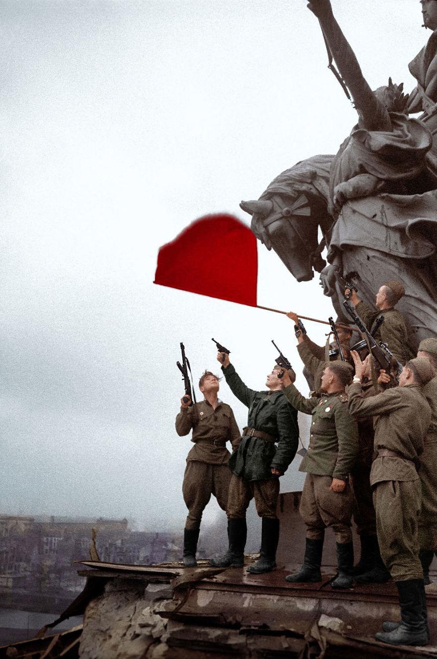 Russian Soldiers In Berlin 1945