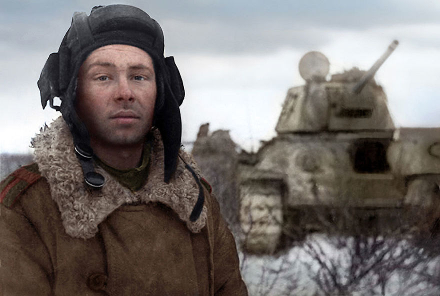 Tank Driver Mikhail Smirnov, 1944