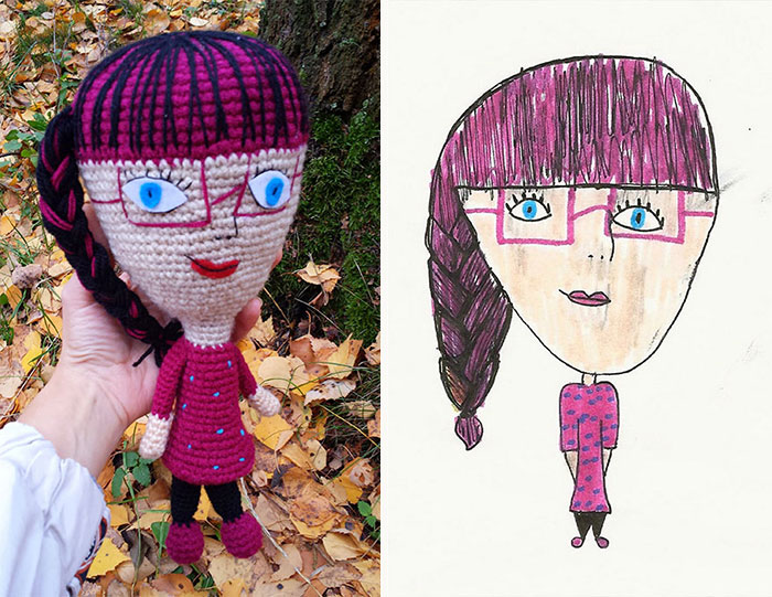 I Crochet Toys From Children Drawings
