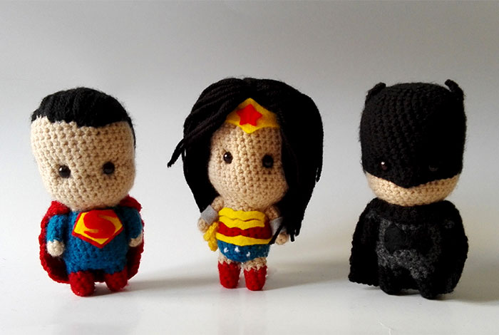 I Make Cute Crochet Superheroes From The Movie 'Dawn Of Justice'
