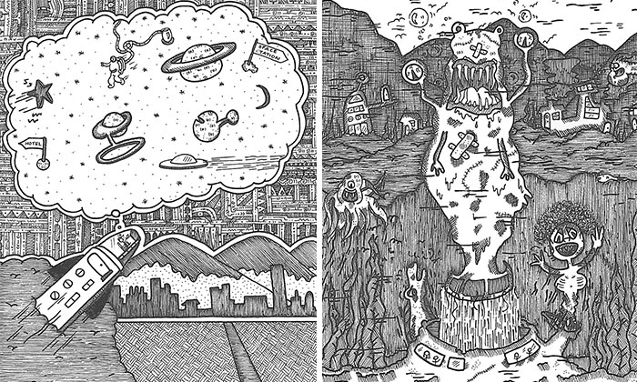 Being Deaf, I Communicate Visually And Draw Detailed Illustrations
