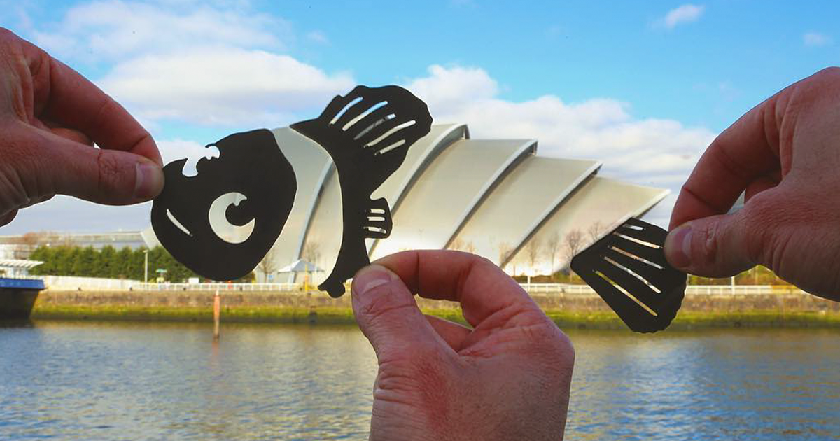 Artist Transforms Famous Landmarks Into Disney Scenes Using Only Paper