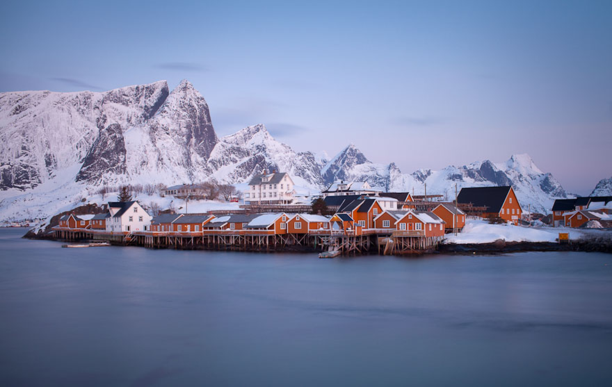 A Small Village On The Water, Lofoten, Norway