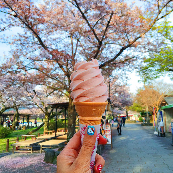 Sakura-flavored Ice Cream, Japan