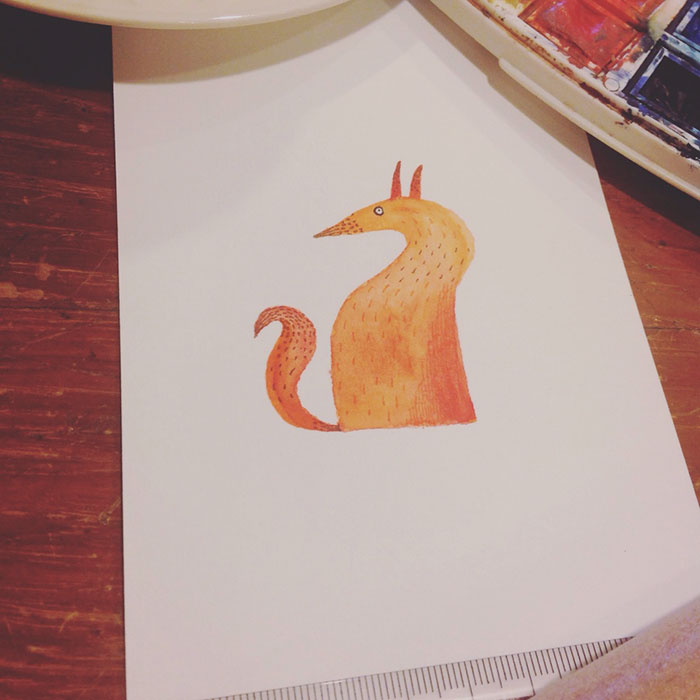 I Start My Fox Paintings Without Knowing The Final Result