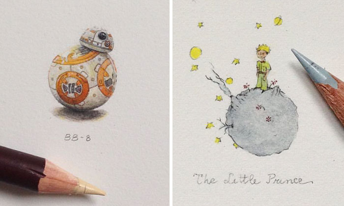 Tiny Pop Culture Drawings Inspired By Movies I've Recently Watched