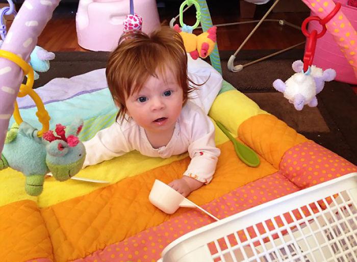 Little Lois Already Had A First Haircut!
