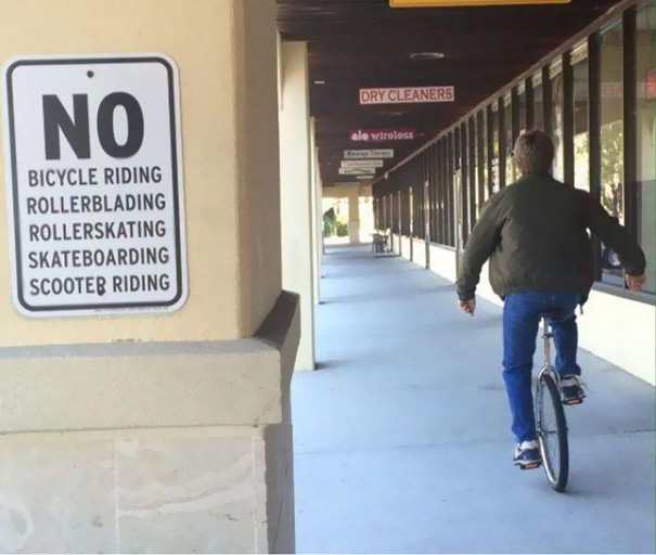 Unicyclist Gets It