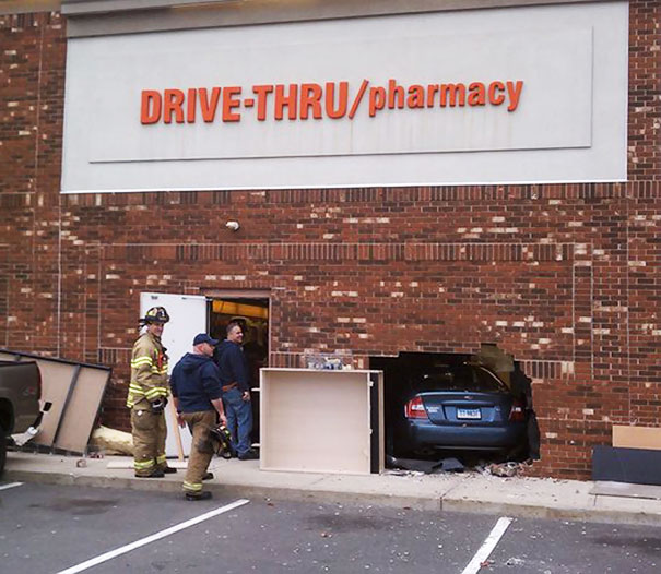I Don't Think This Is What That Had In Mind When They Added The Drive-Thru Sign