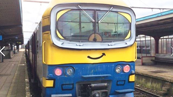 Train Vandalism In Beautiful Belgium