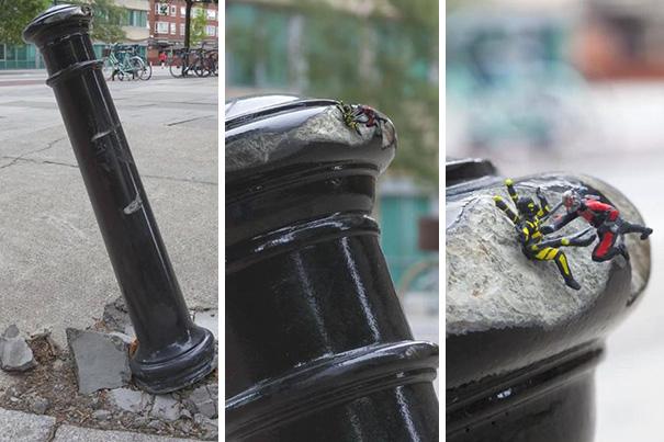 Genius Street Art: Ant-Man Vs Yellow Jacket
