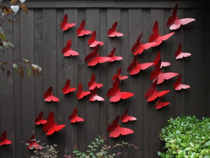Butterfly Fence Decor