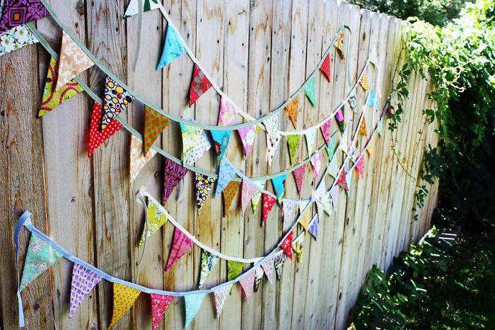 Colorful Flag Fence Decor