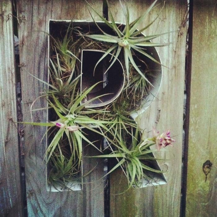 Letter Planter Fence Decor