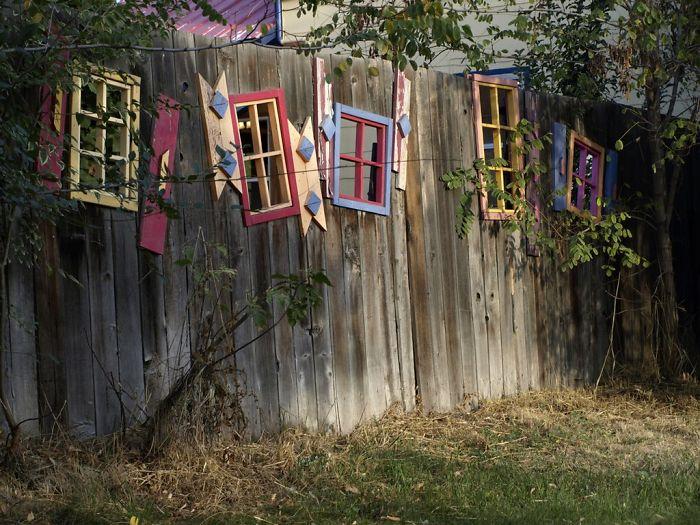Window Fence Decor