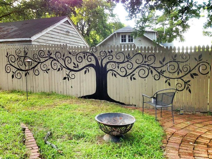 Great #1 Tree Mural Fence Decor