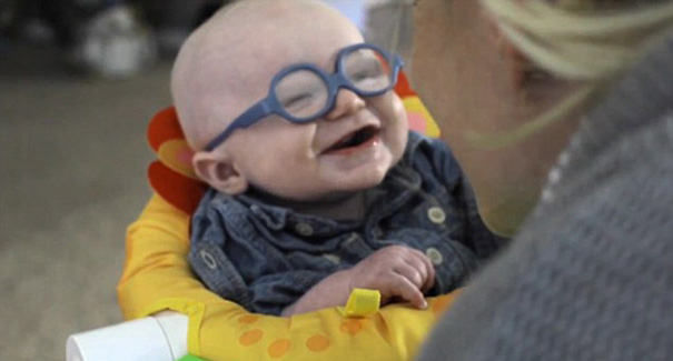 Baby Sees Mom For The First Time With Glasses