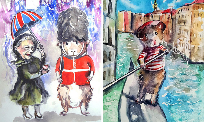 I Paint My Guinea Pig Travelling The World