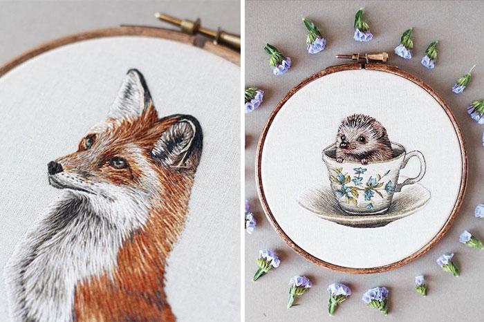 I Transform Pets Into Hand-Embroidered Portraits