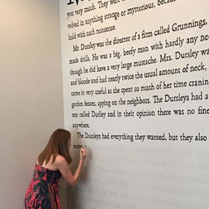 Harry Potter Fan Paints First Page Of